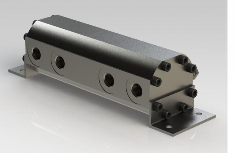 Flow divider front cover