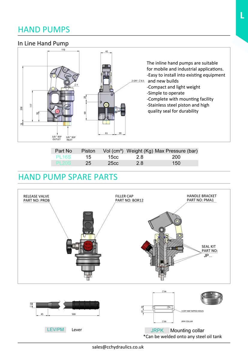 In Line Hand Pumps And Spares Cc Hydraulics Ltd For Hot Tub Spa Parts Accessories Packs Equipment Pump