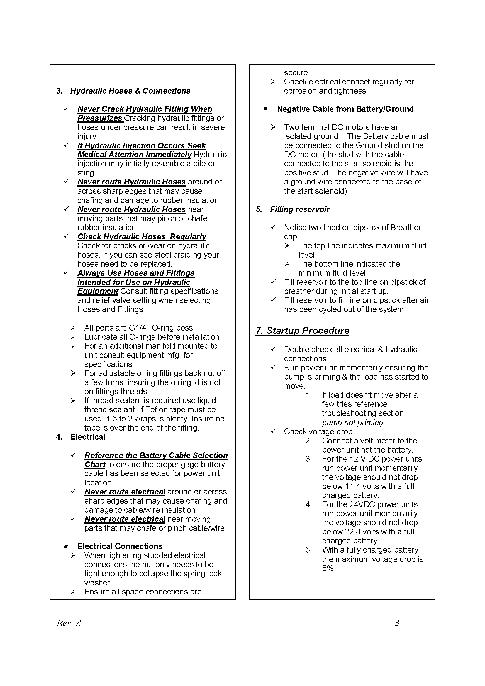 Power Pack Master Owners Manual - C&C Hydraulics Ltd