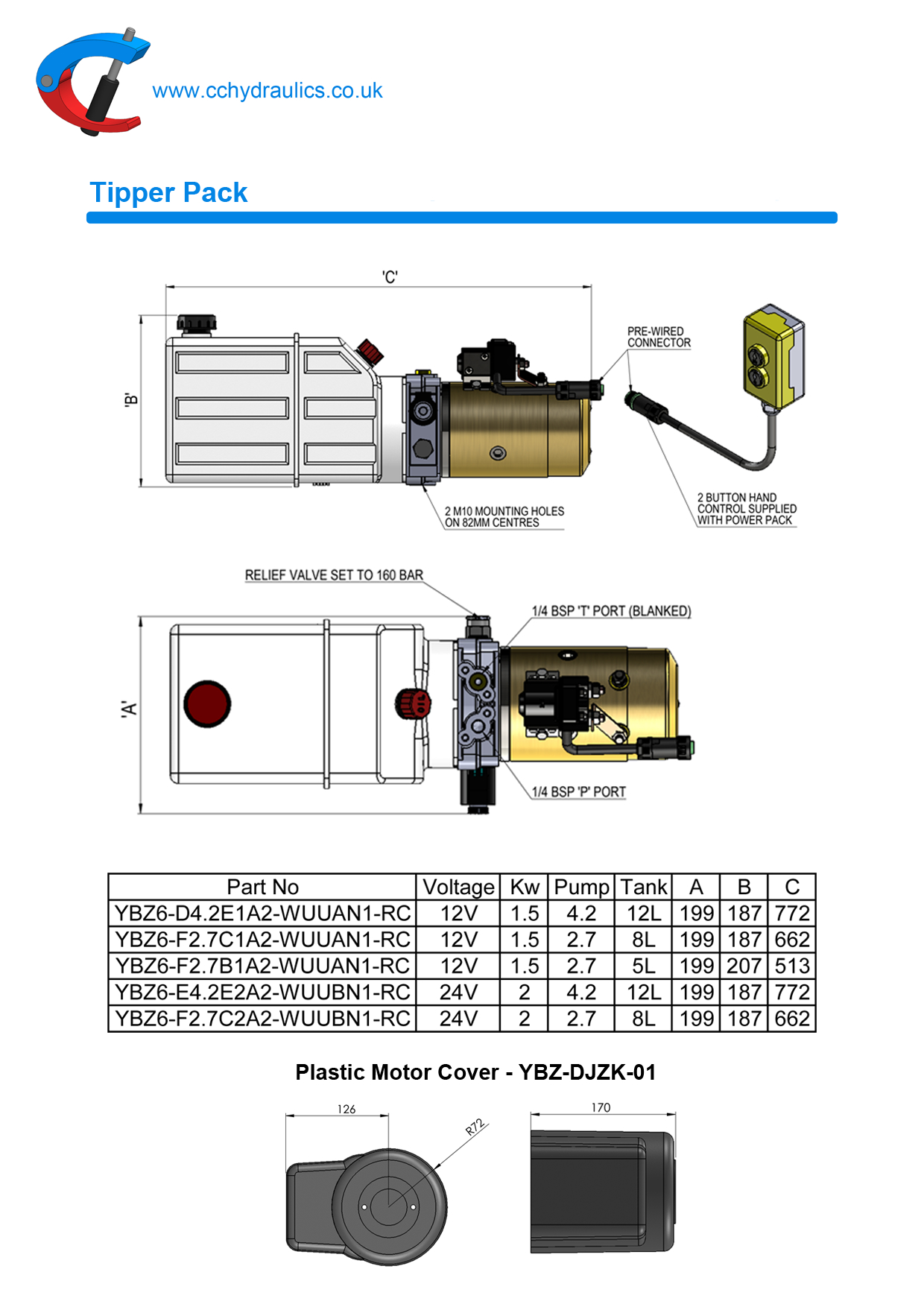 New Tipper Pack Cc Hydraulics Ltd 12v Wiring Diagram For Hydraulic Motor
