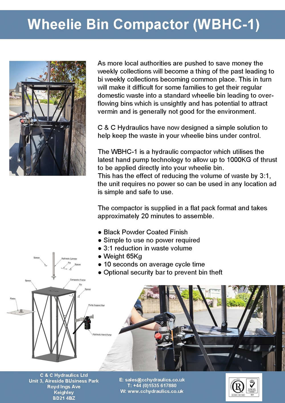 wheelie bin compactor